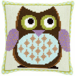 Mister Owl Chunky Cross Stitch Cushion Front Kit