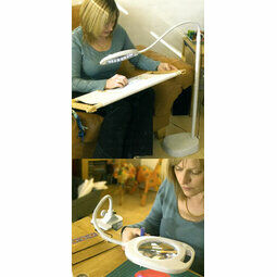 3 In 1 Magnifying Lamp