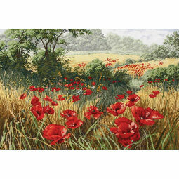 A Host of Poppies Cross Stitch Kit