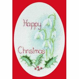Snowdrop Cross Stitch Christmas Card Kit