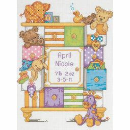 Baby Drawers Cross Stitch Kit Birth Record