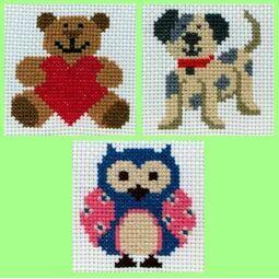 1st Cross Stitch Best Sellers For Kids - Zoe, Toby, Ed (Set Of 3)
