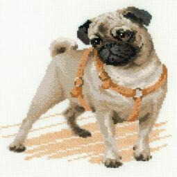 Pug Dog Cross Stitch Kit