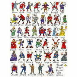British Historical Kings & Queens Sampler Cross Stitch Kit