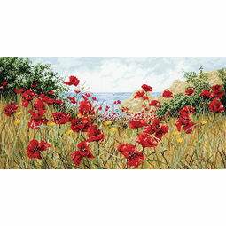 Clifftop Poppies Cross Stitch Kit