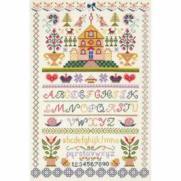 Traditional Sampler Cross Stitch Kit