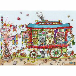 Cut Thru' Gypsy Wagon Cross Stitch Kit