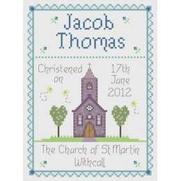 Boy Christening Cross Stitch Kit
