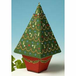 Tall Christmas Tree 3D Cross Stitch Kit