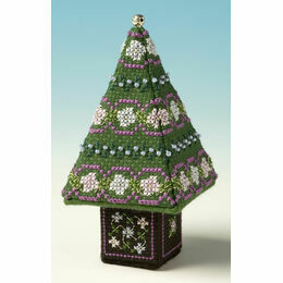 Blue & Silver Small Tree 3D Cross Stitch Kit