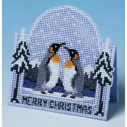 Penguin Christmas Card 3D Cross Stitch Kit