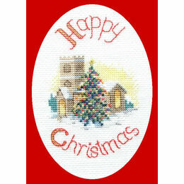 Midnight Mass Christmas Card Cross Stitch Kit