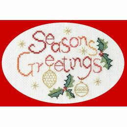 Seasons Greetings Card Cross Stitch Kit