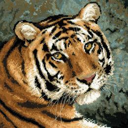 Siberian Tiger Face Cross Stitch Kit