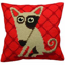 Droopy Dog Chunky Cross Stitch Cushion Panel Cross Stitch Kit
