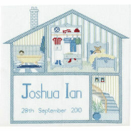 Baby Boy House Cross Stitch Kit