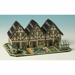 Cottage Row 3D Cross Stitch Kit