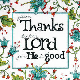 Give Thanks Cross Stitch Kit