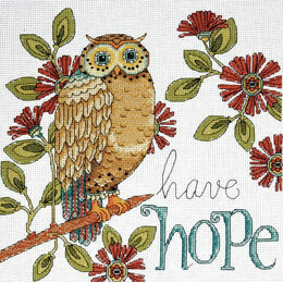Have Hope Owl Cross Stitch Kit