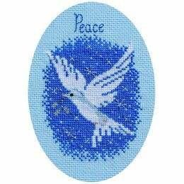 Peace On Earth Christmas Card Cross Stitch Kit