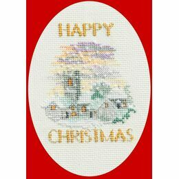 Christmas Snowfall Christmas Card Cross Stitch Kit