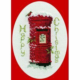 Christmas Post Christmas Card Cross Stitch Kit