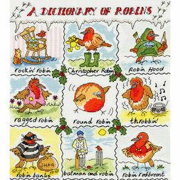 Dictionary Of Robins Cross Stitch Kit