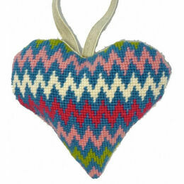 Bargello Lavender Heart Tapestry Kit