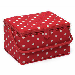 Large Sewing Basket - Red Spot