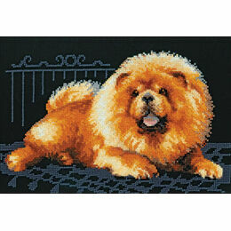 Chow Dog Cross Stitch Kit
