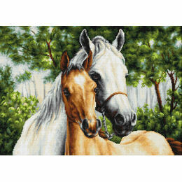 Horse Mother & Child Cross Stitch Kit