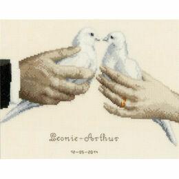 Wedding Doves Cross Stitch Kit