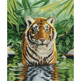 Tiger Pool Cross Stitch Kit