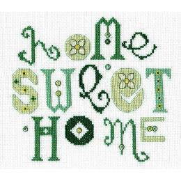 Home Sweet Home Green Cross Stitch Kit