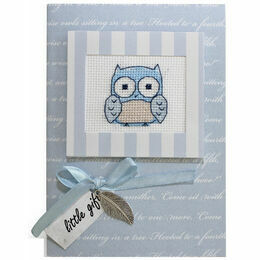 Blue Owl Cross Stitch Card Kit