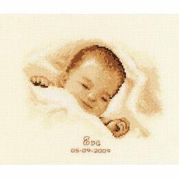 Sleeping Baby Cross Stitch Kit