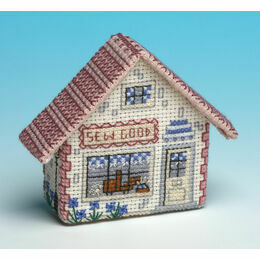 'Sew Good' Craft Shop 3D Fridge Magnet Cross Stitch Kit