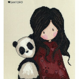 Gorjuss Panda Girl Cross Stitch Kit