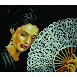 Woman With Fan Cross Stitch Kit