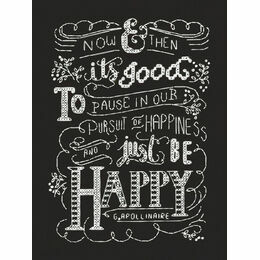 Just Be Happy Chalkboard Cross Stitch Kit