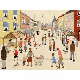 Lowry - The Friday Market Cross Stitch Kit
