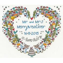 Wedding Heart Cross Stitch Kit