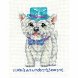 Westie Cute Is An Understatement Cross Stitch Kit