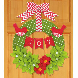 Joy Felt Applique Wreath Kit