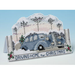 Driving Home For Christmas 3D Cross Stitch Card Kit