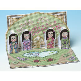 Tea Garden Deluxe 3D Cross Stitch Card Kit