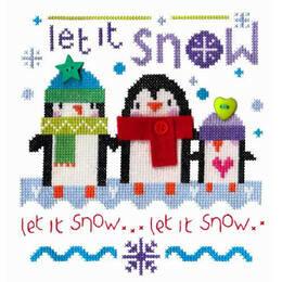 Snowy Penguins Cross Stitch Kit