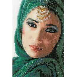 Eastern Beauty Cross Stitch Kit (Evenweave)