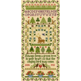 Green Tree Cross Stitch Kit