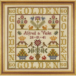 Golden Anniversary Sampler Cross Stitch Kit